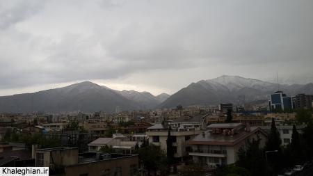 کوه های تهران ظرف چند دقیقه سفید شد