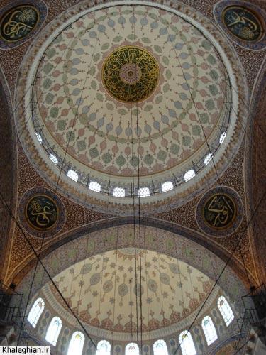 """نمای داخلی گنبد مسجد """"ینی"""""""