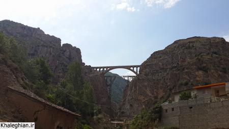 پل ورسک که معروف است رضا شاه موقع افتتاح مهندس سازنده آلمانی آن را جهت اطمینان از کیفیت ساخت زیر آن بست!