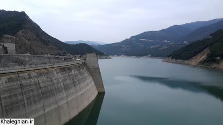 دریاچه پشت سد سلیمان تنگه