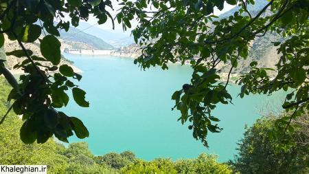 چشم انداز دریاچه پشت سد سلیمان تنگه از افراچال