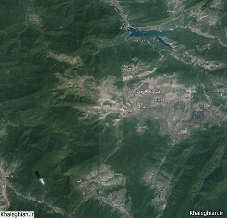 نقشه شمال ایران - سلیمان تنگه افراچال سنگده فریم وزملا تلاوک پل سفید